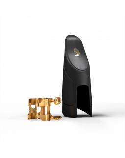 D'ADDARIO H-LIGATURE & CAP FOR ALTO SAXOPHONE Gold-Plated