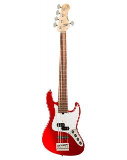 SADOWSKY MetroExpress 21-Fret Hybrid P/J Bass, Morado, 5-String (Candy Apple Red Metallic)