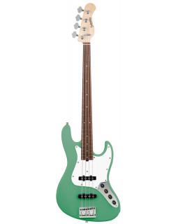 SADOWSKY MetroLine 21-Fret Vintage J/J Bass, Alder, 4-String (Solid Sage Green Metallic Satin)