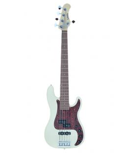SADOWSKY MetroLine 21-Fret Hybrid P/J Bass, Alder, 5-String (Solid Olympic White High Polish)
