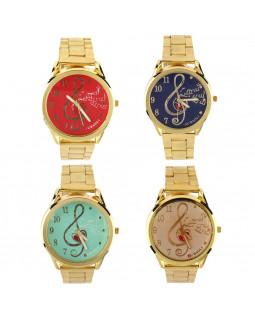ALL SOUNDS CH27M Наручные часы со скрипичным ключом (золотистые)
