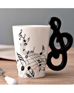 ALL SOUNDS AS909 Чашка Скрипиный ключ и ноты