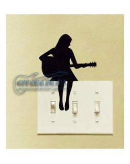 ALL SOUNDS AS924 Стикер-наклейка Гитаристка