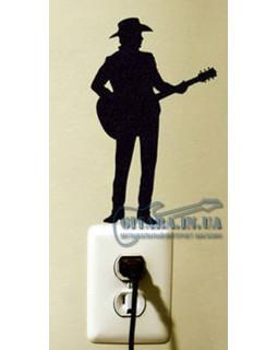 ALL SOUNDS AS921 Стикер-наклейка Гитарист