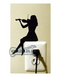 ALL SOUNDS AS922 Стикер-наклейка Скрипачка