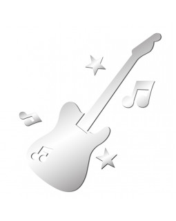 Наклейка на стену ALL SOUNDS Mirror Guitar Зеркальная гитара