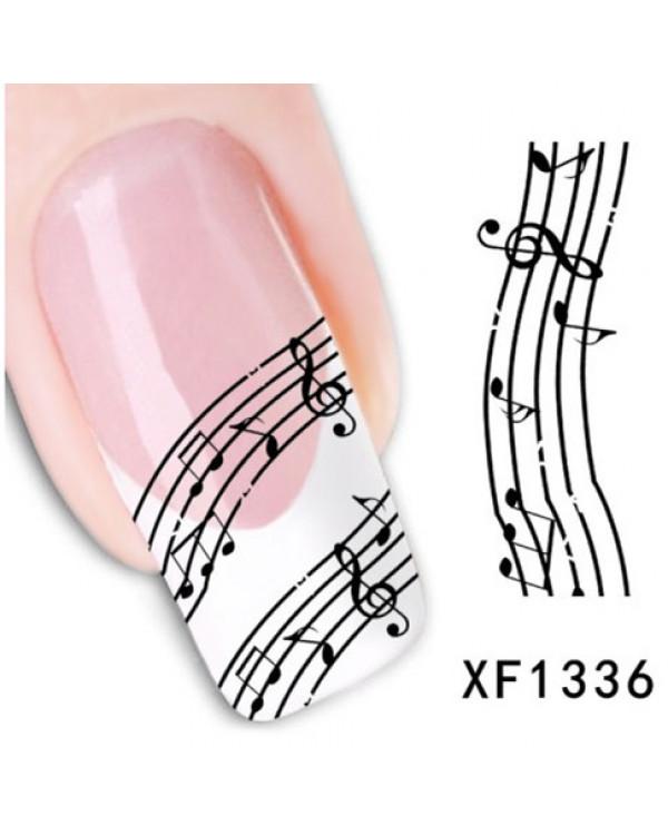 ALL SOUNDS Стикеры для ногтей в виде нот 6552