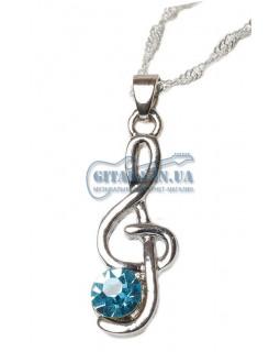 ALL SOUNDS Jewelry C50 BL Подвеска Скрипичный ключ