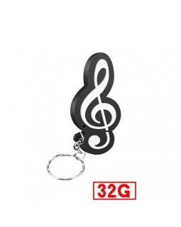 ALL SOUNDS Флешка Скрипичный ключ, 32 Гб