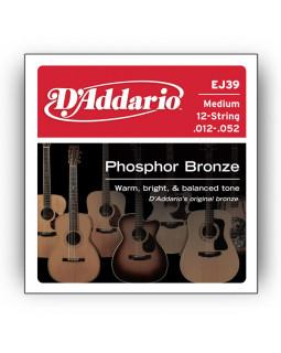 Струны для акустической гитары DADDARIO EJ39 (12 струн)