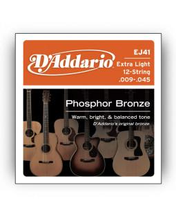 Струны для акустической гитары DADDARIO EJ41 (12 струн)