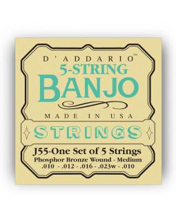 DADDARIO J55 Струны для банджо (5 струн)