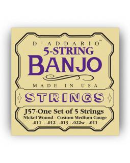 DADDARIO J57 Струны для банджо (5 струн)