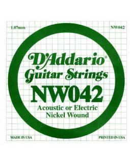 Струны для электрогитары DADDARIO NW042
