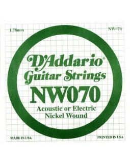 Струны для электрогитары DADDARIO NW070