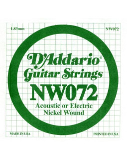 Струны для электрогитары DADDARIO NW072