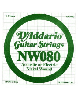 Струны для электрогитары DADDARIO NW080