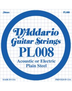 Струны для электрогитары DADDARIO PL008 (1-я струна)