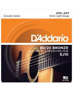D'ADDARIO EJ10 Струны для акустической гитары