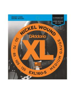 Струны для бас-гитары DADDARIO EXL160-5