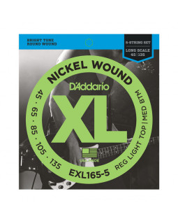 Струны для бас-гитары DADDARIO EXL165-5
