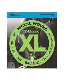 Струны для бас-гитары DADDARIO EXL165SL