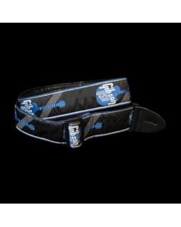 GIBSON ASGG-800 WOVEN STYLE 2' STRAP W/GIBSON LOGO - BLUE Ремень гитарный
