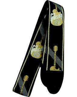 GIBSON ASGG-900 WOVEN STYLE 2' STRAP W/GIBSON LOGO GOLD Ремень гитарный