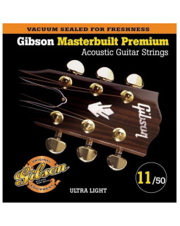 GIBSON SAG-MB11 MASTERBUILT PHOSPHOR BRONZE Струны для акустической гитары