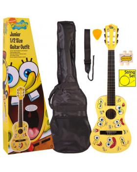 Детская гитара в комплекте SpongeBob SBJGOFT