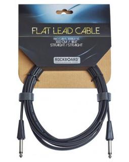 ROCKBOARD Flat Instrument Cable, Straight/Straight (300 cm)