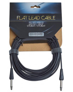 ROCKBOARD Flat Instrument Cable, Straight/Straight (600 cm)