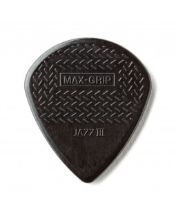 DUNLOP 471P3S Nylon Jazz Max Grip 3S-Black, Набор медиаторов, 6 шт.