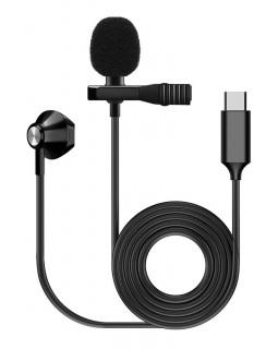 FZONE KM-05 LAVALIER MICROPHONE W/ EARPHONE (USB Type C)