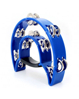 MAXTONE 818 Dual Power Tambourine (Blue)