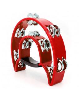 MAXTONE 818 Dual Power Tambourine (Red)