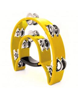 MAXTONE 818 Dual Power Tambourine (Yellow)
