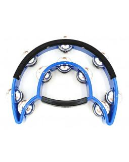 MAXTONE 818N/P Power-2 Tambourine w/Protecting Trim (Blue)
