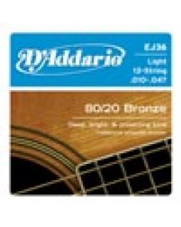 Струны для акустической гитары D'ADDARIO EJ17