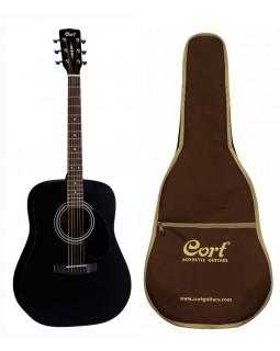 Акция! Акустическая гитара CORT AD810BKS с чехлом