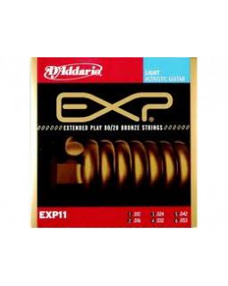 Струны для акустической гитары Daddario EXP11