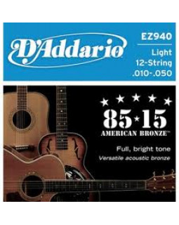 Струны для акустической гитары Daddario EZ940 (12 струн)