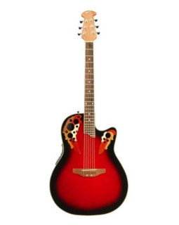 OVATION APPLAUSE AE147 DELUXE RUBY RED BURST