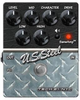 Педаль эффектов дисторшн TECH 21 Character Series US Steel