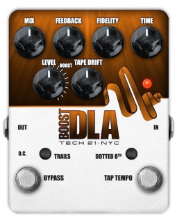 Педаль эффектов TECH 21 Boost D.L.A. Tap Tempo Version 2