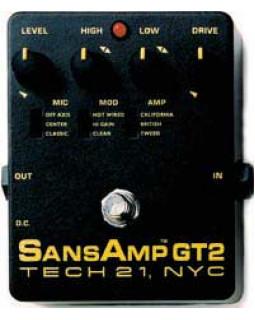 Педаль эффектов TECH 21 SansAmp GT2