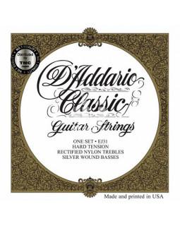 Струны для классической гитары Daddario EJ31