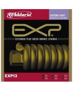 Струны для акустической гитары Daddario EXP13