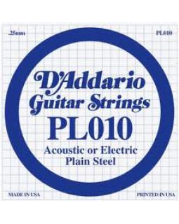 Струна для электрогитары D'ADDARIO PL010