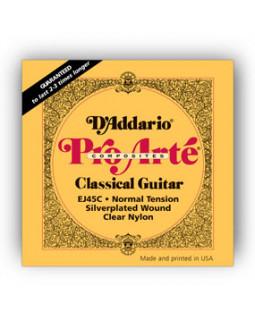 Струны для классической гитары Daddario EJ45C Pro Arte Composites
